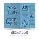 Iconos veterinarios de la medicina animal de la atención sanitaria del animal doméstico fijados Imágenes de archivo libres de regalías