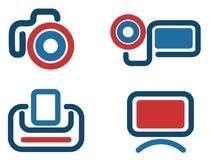 Iconos video Foto de archivo libre de regalías