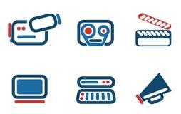 Iconos video Imagen de archivo libre de regalías