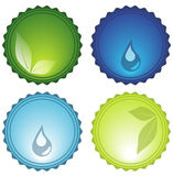 Iconos vidriosos Imagenes de archivo