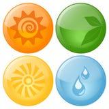 Iconos vidriosos Imágenes de archivo libres de regalías