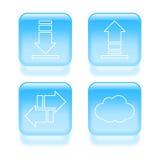 Iconos vidriosos del tráfico Imagenes de archivo