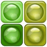 Iconos vidriosos fijados Imagen de archivo libre de regalías