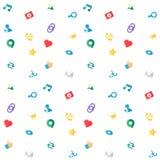 Iconos virtuales de la red de Socail del web Imágenes de archivo libres de regalías