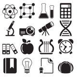 Iconos vol. 2 de la educación Imagen de archivo libre de regalías
