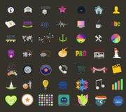 Iconos y botón del ordenador Imagen de archivo libre de regalías