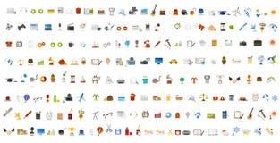 Iconos y botones del ordenador Fotos de archivo