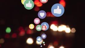 Iconos y carretera sociales de los medios ilustración del vector