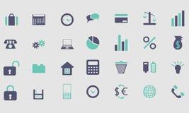 Iconos y color de los botones Fotos de archivo libres de regalías