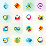 Iconos y elementos abstractos del web Fotos de archivo libres de regalías
