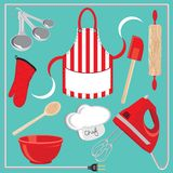 Iconos y elementos de la hornada libre illustration