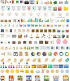 Iconos y herramientas del negocio stock de ilustración