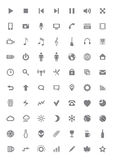Iconos y pictogramas fijados Imagen de archivo