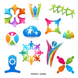 Iconos y símbolos de la gente Imágenes de archivo libres de regalías