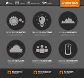 Iconos y símbolos del webdesign del vector ilustración del vector