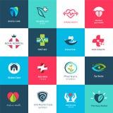Iconos y sistema de símbolos médicos Foto de archivo