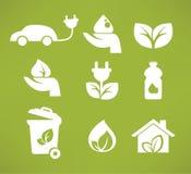 Iconos y símbolos de Eco Imagen de archivo libre de regalías