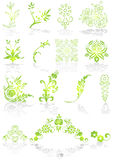 Iconos y vector verdes de los gráficos stock de ilustración