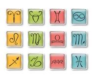 Iconos zodiacales Foto de archivo libre de regalías