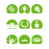 Iconoschampsgreen Royalty Free Stock Photos