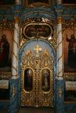 Iconostas ortodox kyrka Valjevo Arkivfoto