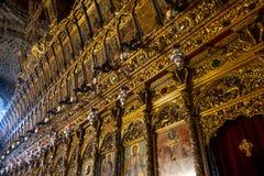 Iconostase de l'église du saint Lazarre, Larnaca, Chypre photos stock