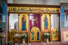 Iconostasis in the Cathedral of the Transfiguration of the Saviour Royalty Free Stock Photography