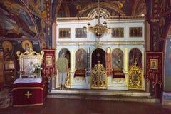 The iconostasis in the church in Monastery Rezevici in Montenegro Stock Photo