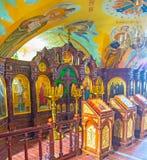 Iconostasis of Church of St. Serephim of Sarov Stock Image