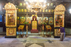 The iconostasis in the church of the Troyan Monastery in Bulgaria Royalty Free Stock Photography