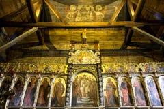 Iconostasis in de kerk RadruÅ ¼, oostelijk Polen royalty-vrije stock foto's