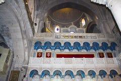 Iconostasis in der Kirche des heiligen Grabes, Christus Grab, in der alten Stadt von Jerusalem, Israel lizenzfreies stockfoto