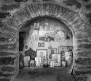 Iconostasis fora da igreja Ortodoxa Oriental fotografia de stock royalty free