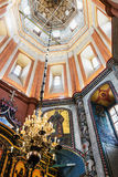 Iconostasis and furniture of St. Basil's Cathedral in Moscow Royalty Free Stock Image