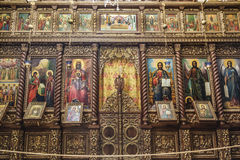 The iconostasis in the monastery of the Temptation on the mountain, Carental, Stock Image