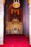 Iconostasis and nave Stock Photo
