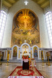 Iconostasis in orthodox Cathedral Royalty Free Stock Images