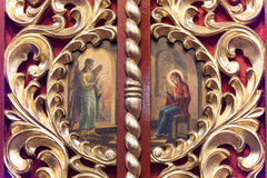 Iconostasis in  orthodox  church in Laszki Murowane, Ukraine Royalty Free Stock Photography