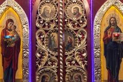 Iconostasis in  orthodox  church in Laszki Murowane, Ukraine Royalty Free Stock Image