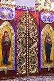 Iconostasis in  orthodox  church in Laszki Murowane, Ukraine Royalty Free Stock Photos