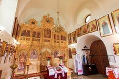 The iconostasis of the Orthodox Church Ukraine Royalty Free Stock Photography
