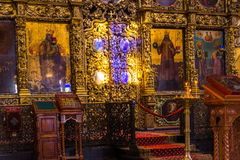 Iconostasis in Peter and Paul Cathedral in Kazan, Republic of Tatarstan, Russia Royalty Free Stock Photos