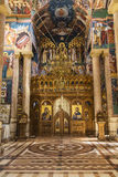 The iconostasis of the Romanian Orthodox Church Nativity of the virgin in Jericho Stock Images