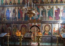 The iconostasis of the Russian Orthodox Church Stock Photo