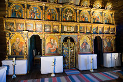 Iconostasis in slovak orthodox church Royalty Free Stock Photos