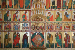 Iconostasis is in the Solovki monastery Royalty Free Stock Photos