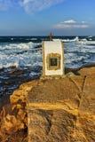 Iconostasis St. Peter and St. Nicholas at coastline of village of Chernomorets, Burgas Region. Bulgaria Stock Photography