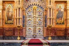 Iconostasis in St. Petersburg, Russia Royalty Free Stock Images