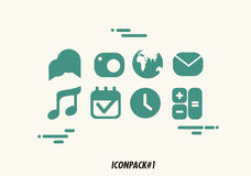 ICONPACK 1. 8 iconpak inspired from smartphone apps Royalty Free Stock Photos