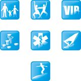 Icons 1 stock images